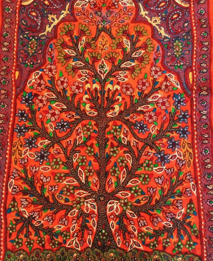طرح های اصیل فرش دستبافت و خرید فرش درختی