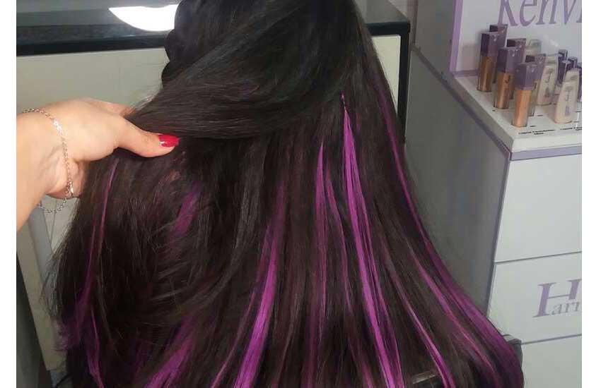 اکستنشن مو رنگی